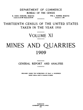 Mines and quarries 1909: General report and analysis