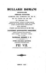Tomus Decimus Quintus Continens Pontificatus Pii VII  Annum Decimum Nonum Ad Vicesimum Quartum PDF