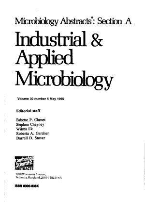 Microbiology Abstracts PDF