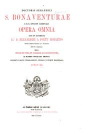 Doctoris Seraphici S. Bonaventurae S.R.E. Episcopi Cardinalis opera omnia ..: and Indices, Tome. 1-4 in 1 v, Volume 3