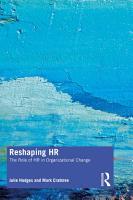 Reshaping HR PDF