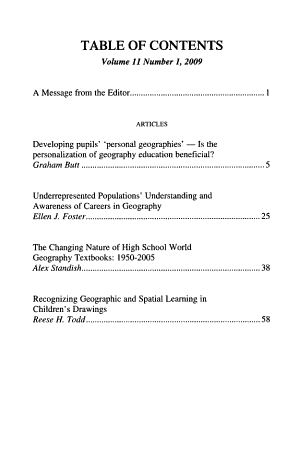 Research in Geographic Education PDF