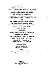 Sulla opinione del D. Sacchi intorno alla causa del gozzo che domina in Treviglio