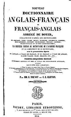 Nouveau dictionnaire anglais fran  ais et fran  ais anglais abr  g   de Boyer PDF