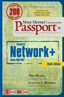 Mike Meyers  CompTIA Network  Certification Passport  Sixth Edition  Exam N10 007  PDF