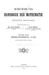 Schloemilchs Handbuch der mathematik: Band 3