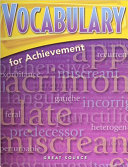 Great Source Vocabulary for Achievement PDF