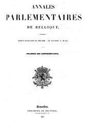 Annales parlementaires de Belgique
