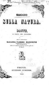 Saggio sulla natura: Dante, il poeta del pensiero