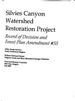 Silvies Canyon Watershed Restoration Project