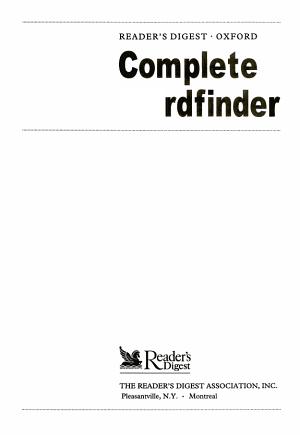 Reader s Digest Oxford Complete Wordfinder