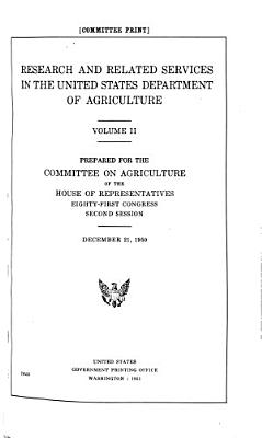 Research and Related Services in the United States Department of Agriculture