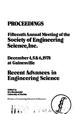 Recent Advances in Engineering Science PDF