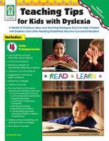 Teaching Tips for Kids with Dyslexia  Grades PK   5 PDF