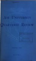 Air University Quarterly Review PDF