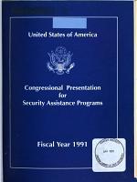 Congressional Presentation, Security Assistance Program