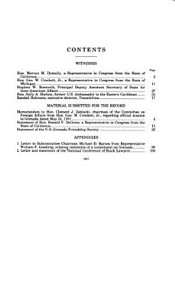 United States Policy Toward Grenada PDF
