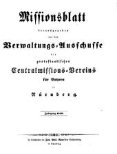 Missionsblatt: 1849