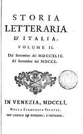 Storia letteraria d'Italia: Volume 2