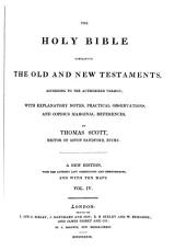 The holy bible containing the old and the new testaments: Volume 4