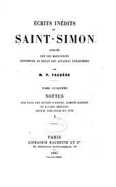 Écrits inédits de Saint-Simon: publiés sur les manuscrits conservés au dépot des affaires étrangères, Volume5
