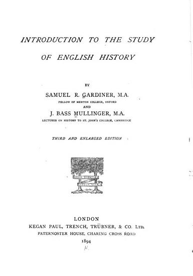 Introduction to the Study of English History PDF