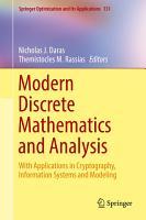 Modern Discrete Mathematics and Analysis PDF