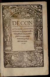 De Conivgio Episcoporvm & Diaconorum: ad uenerandum Doctorem Vuolffgangum Reissenbusch, monasterij Lichtenbergensis Praeceptorem