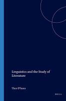 Linguistics and the Study of Literature PDF