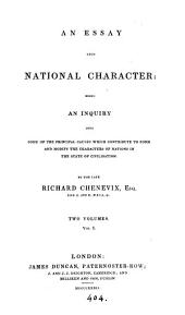 An essay upon national character [ed. by T.P. Knox].