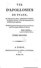 Vie d'Apollonius de Tyane: Volume2
