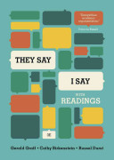 They say I say  the moves that matter in academic writing PDF