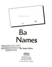 The Complete Idiot s Guide to Baby Names PDF