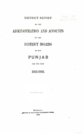 Report on the Working of District Boards in the Punjab