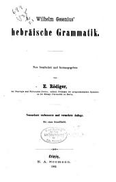 Wilhelm Gesenius' Hebräische grammatik