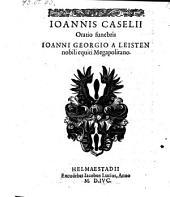 Oratio funebris Johanni Georgio a Leisten. -Helmaestadii, Jacobus Lucius 1596