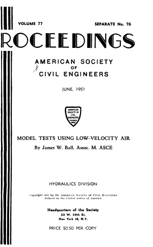 Proceedings of the American Society of Civil Engineers