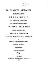 Auctores classici Latini: Volume 1