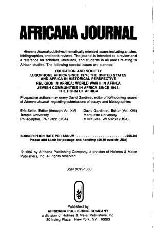 Africana Journal PDF