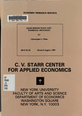 Equilibrium Wage and Dismissal Processes PDF