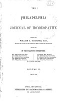 The Philadelphia Journal of Homoeopathy PDF