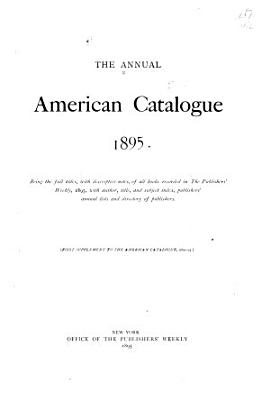 The Annual American Catalogue PDF
