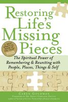Restoring Life s Missing Pieces PDF
