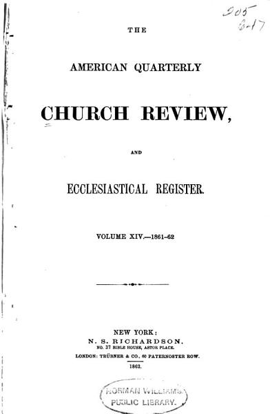 Download The American Quarterly Church Review Book