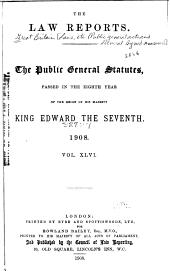 Public General Statutes Passed in ..: Volume 46
