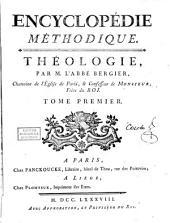 Encyclopédie méthodique: Théologie, Volume1