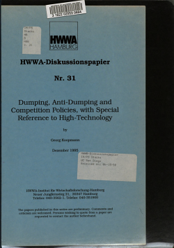 Dumping  Anti dumping and Competition Policies  with Special Reference to High technology PDF