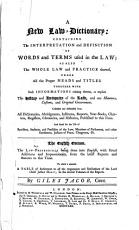 A New Law dictionary PDF