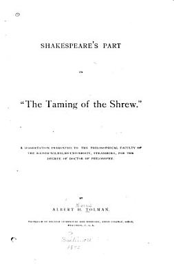 Shakespeare s Part in  The Taming of the Shrew   PDF