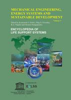 MECHANICAL ENGINEERING  ENERGY SYSTEMS AND SUSTAINABLE DEVELOPMENT  Volume V PDF